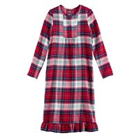 Girls 4-16 Jammies For Your Families Plaid Flannel Nightgown & Doll Gown Pajama Set