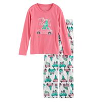 Girls 7-16 Jammies For Your Families Retro Car Top & Fleece Bottoms Pajama Set