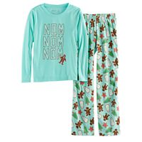 Girls 7-16 Jammies For Your Families Holiday Cookies Top & Fleece Bottoms Pajama Set