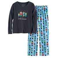 Girls 7-16 Jammies For Your Families Nutcracker Top & Fleece Bottoms Pajama Set