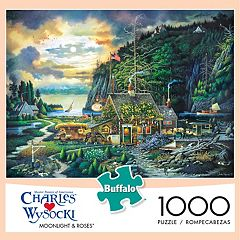 Charles Wysocki Moonlight & Roses 1,000 pc Puzzle by Buffalo Games