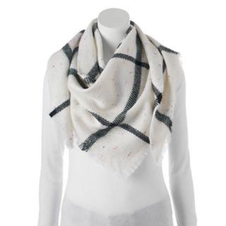 Candie's® Windowpane Nep Yarn Triangle Scarf