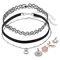 Mudd® Taurus, Unicorn & Starburst Charm Choker Necklace Set