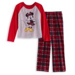 Disney's Minnie Mouse Girls 4-12 Top & Microfleece Bottoms Pajama Set by Jammies For Your Families
