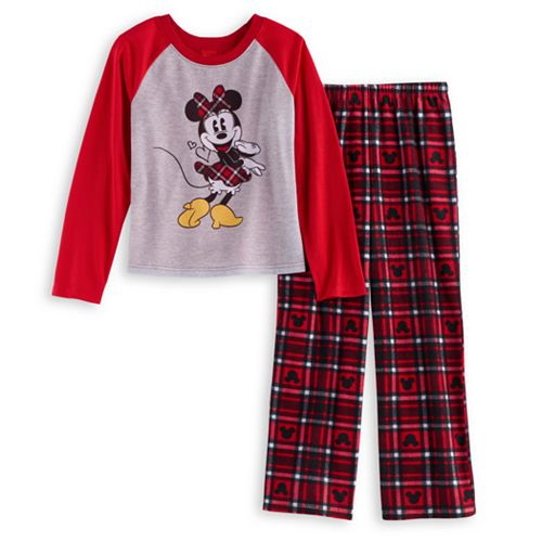 Disney s Minnie Mouse Girls 4-12 Top   Microfleece Bottoms Pajama Set by  Jammies For Your Families 87ff7cf0f