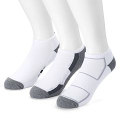 Men's Tek Gear® 3-pack CoolTek Low-Cut Performance Socks with Bonus Cinch Sack