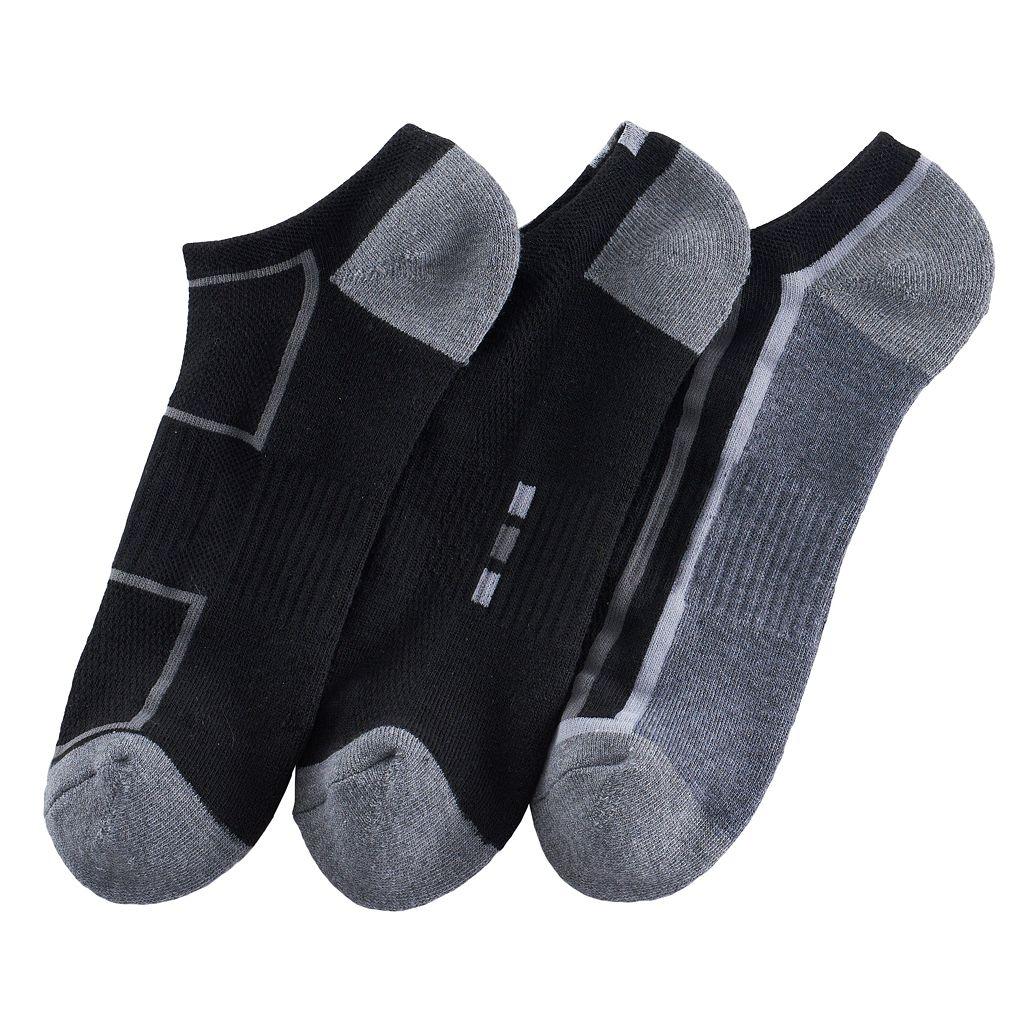 Men's Tek Gear® 3-pack CoolTek Low-Cut Performance Socks with Bonus Cinch Sack
