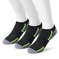 Men's Tek Gear® 3-pack CoolTek No-Show Performance Socks with Bonus Cinch Sack