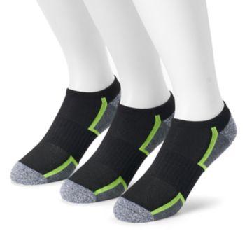 Men's Tek Gear® 3-pack CoolTek No-Show Performance Socks with Bonus Cinch Sack