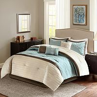 Madison Park Marnie Aqua 7-piece Comforter Set