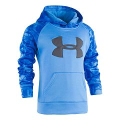 Boys 4-7 Under Armour Cloudy Grid Logo Pullover Hoodie