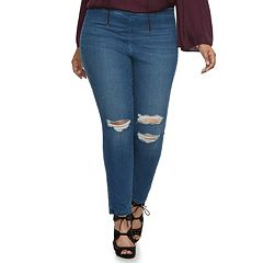 Plus Size Jennifer Lopez Ripped Jeggings