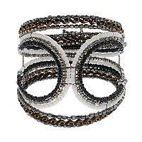 Mudd® Seed Bead Wavy Cuff Bracelet