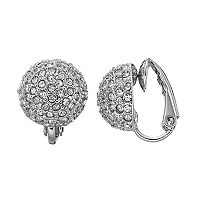 Simply Vera Vera Wang Fireball Dome Nickel Free Clip On Earrings