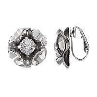 Simply Vera Vera Wang Flower Nickel Free Clip On Earrings
