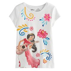 Disney's Elena of Avalor Girls 4-7 Glittery Graphic Tee by Jumping Beans®