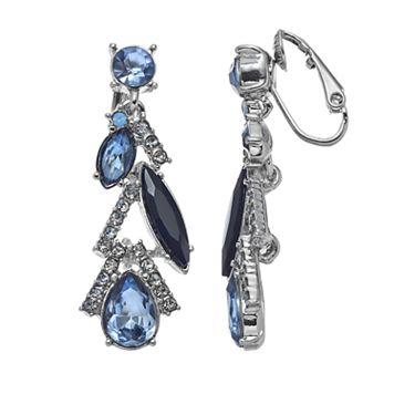 Simply Vera Vera Wang Geometric Nickel Free Clip On Earrings