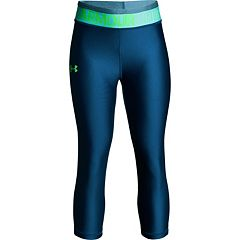 Girls 7-16 Under Armour HeatGear Solid Capri Leggings