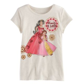 """Disney's Elena of Avalor Toddler Girl """"Family Is Love"""" Graphic Tee by Jumping Beans®"""
