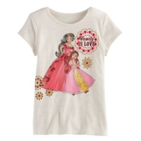 """Disney's Elena of Avalor Girls 4-7 """"Family Is Love"""" Graphic Tee by Jumping Beans®"""