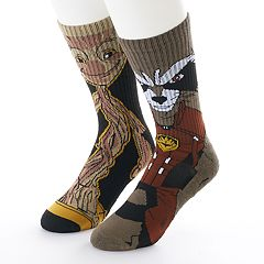 Men's Marvel Guardians of The Galaxy 2-Pack Athletic Crew Socks