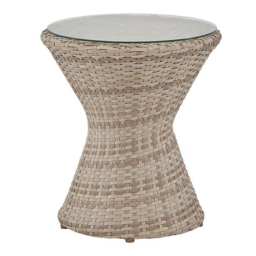 INK+IVY Kelsey Round Patio End Table