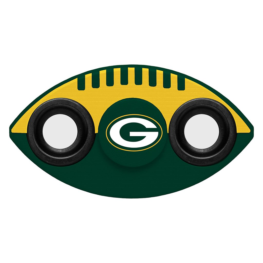 Green Bay Packers Diztracto Two-Way Football Fidget Spinner Toy