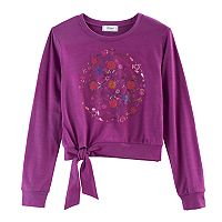 Disney D-Signed Coco Girls 7-16 Embellished Graphic Tie-Front Top