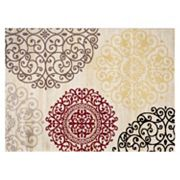 World Rug Gallery Toscana Contemporary Modern Floral Rug