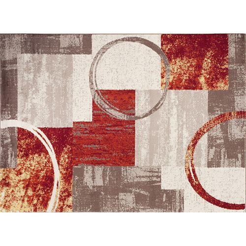 World Rug Gallery Toscana Contemporary Abstract Circles Rug