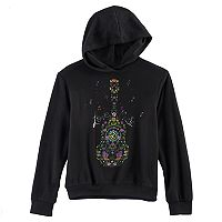 Disney D-Signed Coco Girls 7-16 Guitar Graphic Hoodie