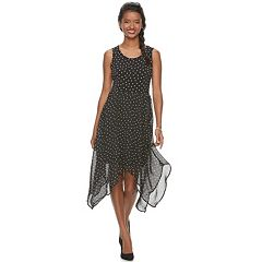 Women's ELLE™ Handkerchief Fit & Flare Dress