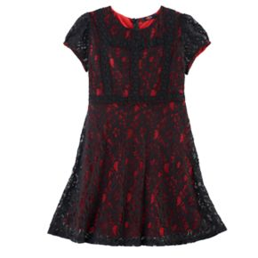 Disney D-Signed Coco Girls 7-16 Lace A-Line Dress