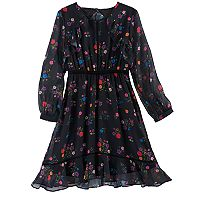 Disney D-Signed Coco Girls 7-16 Floral Print Ruffle Dress