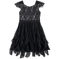 Disney D-Signed Coco Girls 7-16 Corkscrew Skirt Lace Dress