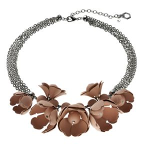 Simply Vera Vera Wang Multi Strand Pink Floral Statement Necklace