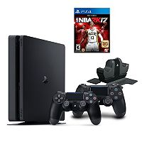 PlayStation 4 1TB NBA 2K17 Bundle with Charging Station & 2 Controllers