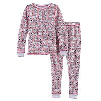 Toddler Girl Cuddl Duds 2 pc Base Layer Top & Pants Set