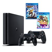 PlayStation 4 1TB Ratchet & Clank & Little Big Planet 3 Family Bundle with 2 Controllers
