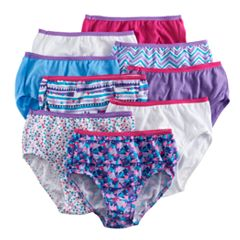 Girls 4-16 Hanes 9-pk. Cotton Brief Panties