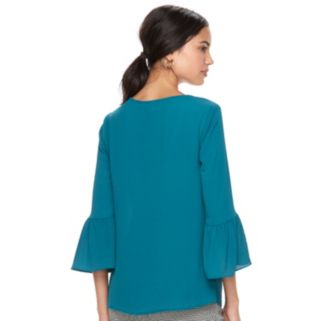 Women's ELLE™ Ruffle Bell-Sleeve Top