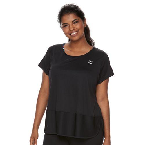 0a9b36752a90cb Plus Size Fila Sport® Mesh Inset Short Sleeve Tee