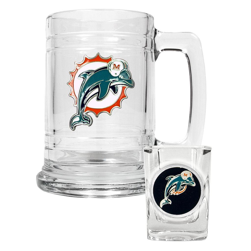 Miami Dolphins 2-pc. Mug & Shot Glass Set