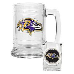 Baltimore Ravens 2 pc Mug & Shot Glass Set