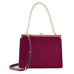 LC Lauren Conrad Runway Collection Dame Velvet Shoulder Bag