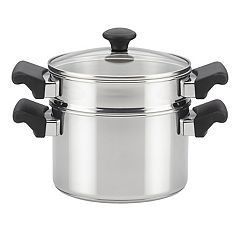Farberware Classic Traditions 3-qt. Stainless Steel Saucepot with Steamer Insert