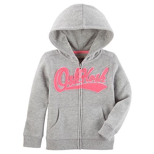 Girls 4-14 OshKosh B'gosh® Logo Applique Zip-Up Hoodie