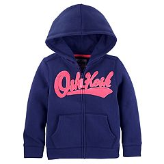 Girls 4-14 OshKosh B'gosh® Logo Applique Zip-Up Hoodie