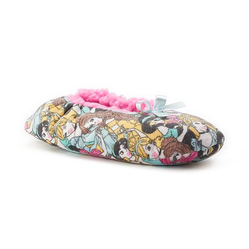149f71df67d Women s Disney Princess Fuzzy Babba Ballerina Slippers