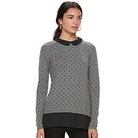 Women's ELLE™ Dot Mock-Layer Sweater